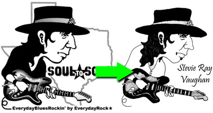 Stevie Ray Vaughan caricature