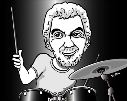 Steve Gadd caricature