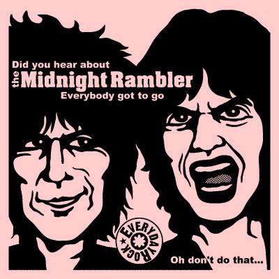 EverydayRock T Shirt Keith Richards Mick Jagger Rolling Stones caricature