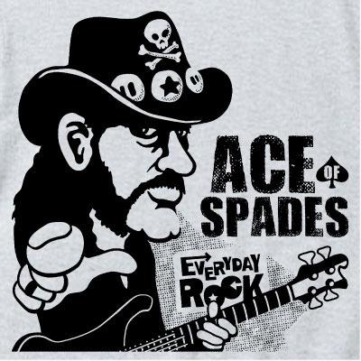 EverydayRock T Shirt Lemmy Kilmister Motorhead caricature