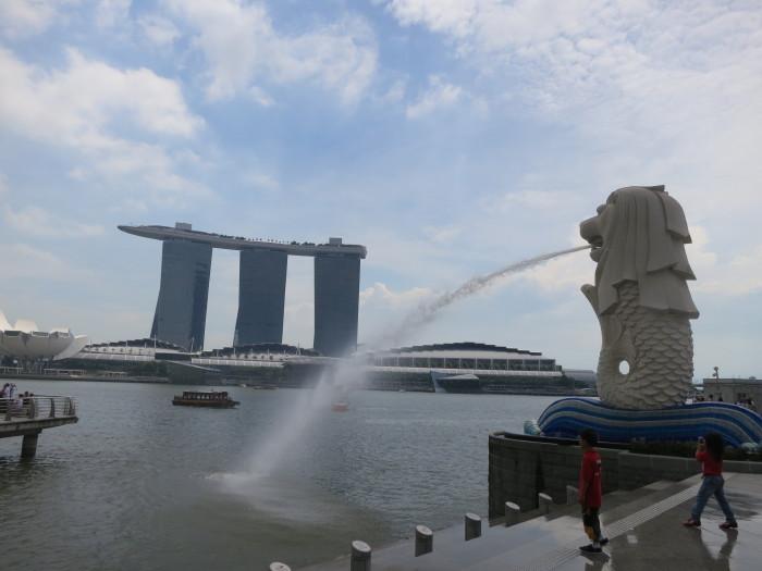 マーライオン シンガポール観光