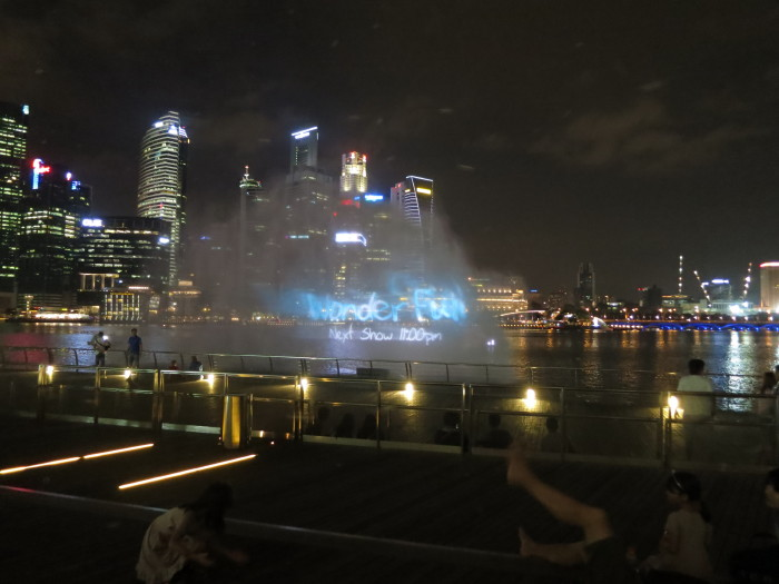 シンガポール ナイトショー MBS ワンダー・フル