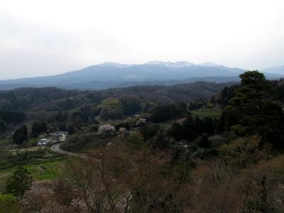 二本松・霞ヶ城公園より安達太良山
