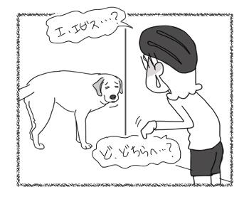 羊の国のラブラドール絵日記シニア!!「通じない冗談」4