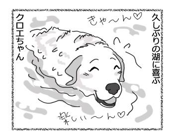 羊の国のラブラドール絵日記シニア!!「未確認水中物体とは!?」2