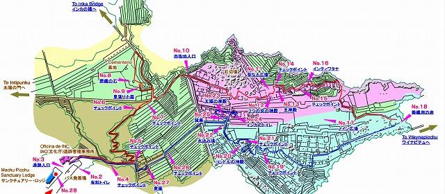 マチュピチュ地図