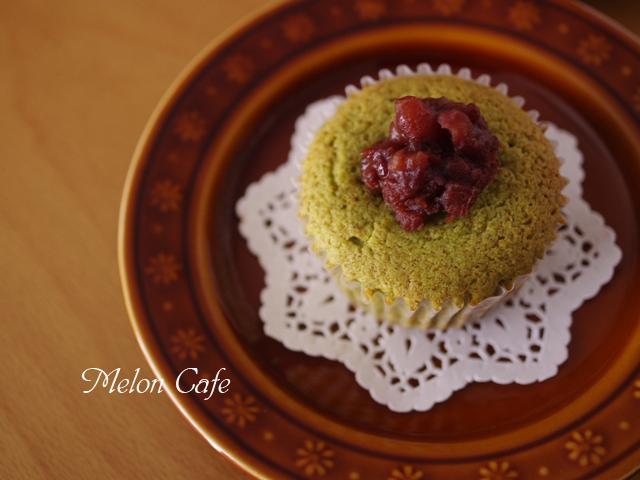 栗の甘露煮まるごと簡単はちみつカップケーキ抹茶とあずき06