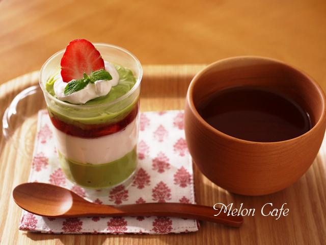 抹茶のチーズクリームはちみつイチゴソース添え05