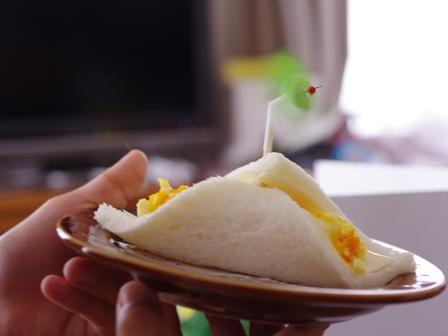 サンドシナイッチ卵サラダ風車ピックはまわります笑