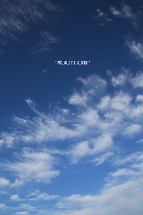 雲が印象的ね!