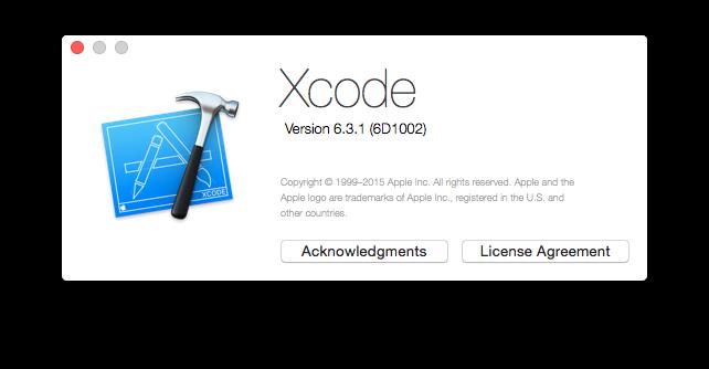 Xcode 6.3.1