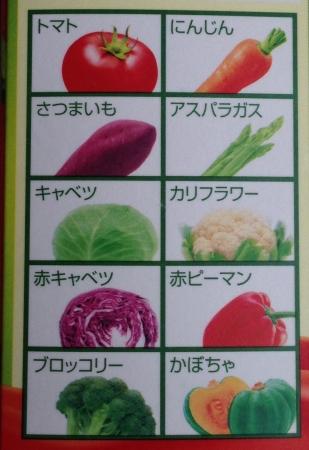 3色野菜種類