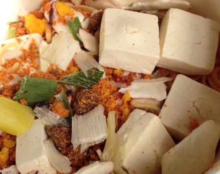 豆腐チゲラーメン湯入れ前