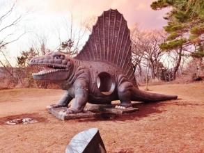 伊東市~小室山ハイキングコース途中の恐竜広場♪思ったより大きい恐竜がリアルにいました\(^o^)/2015.01.31