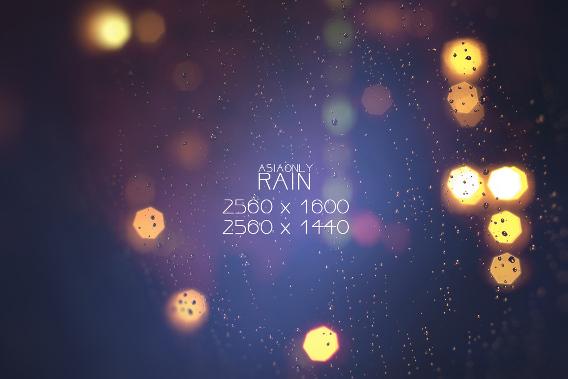 Rain Ubuntu 壁紙
