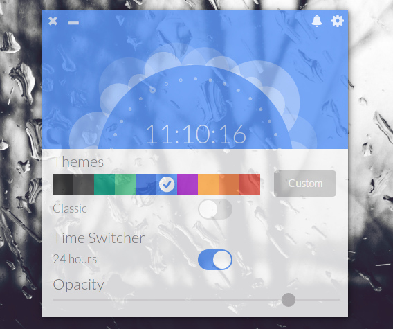 Up Clock Ubuntu デスクトップ 時計 外観オプション